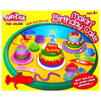TSH Mainan Edukasi Lilin Fun Doh Making Birthday Cake Kue Ulang Tahun - Multi Colour