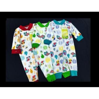 Velvet Jumper Oblong Buka Kaki Owl Garden New Born Isi 3pcs