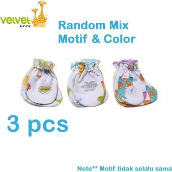 Velvet Junior Sarung Tangan Kaki Bayi Fullprint Isi 3 pcs
