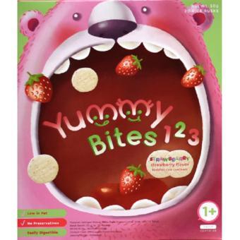 Yummy Bites 123 Snack Biskuit Bayi Strawberry 50 gr