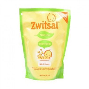 Zwitsal Baby Bath Natural Milk & Honey Refill 450 ml
