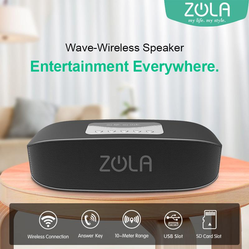 ZOLA Wave Bluetooth Portable Speaker Support Memory Card Supreme Sound