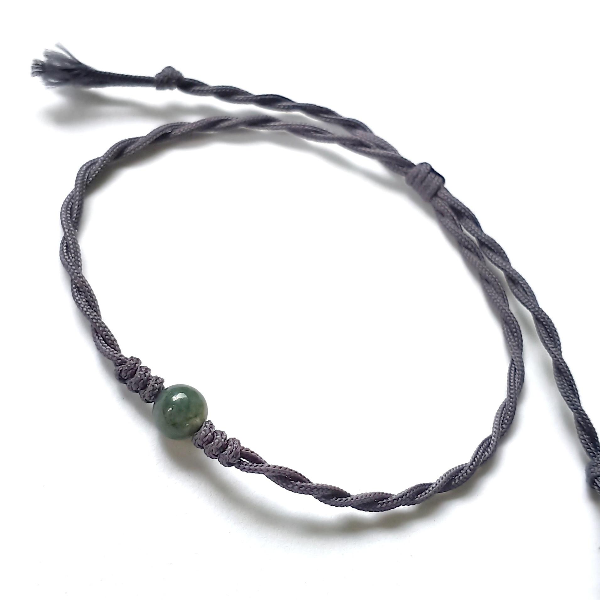 gelang batu indian agate tali etnik handmade pria wanita couple