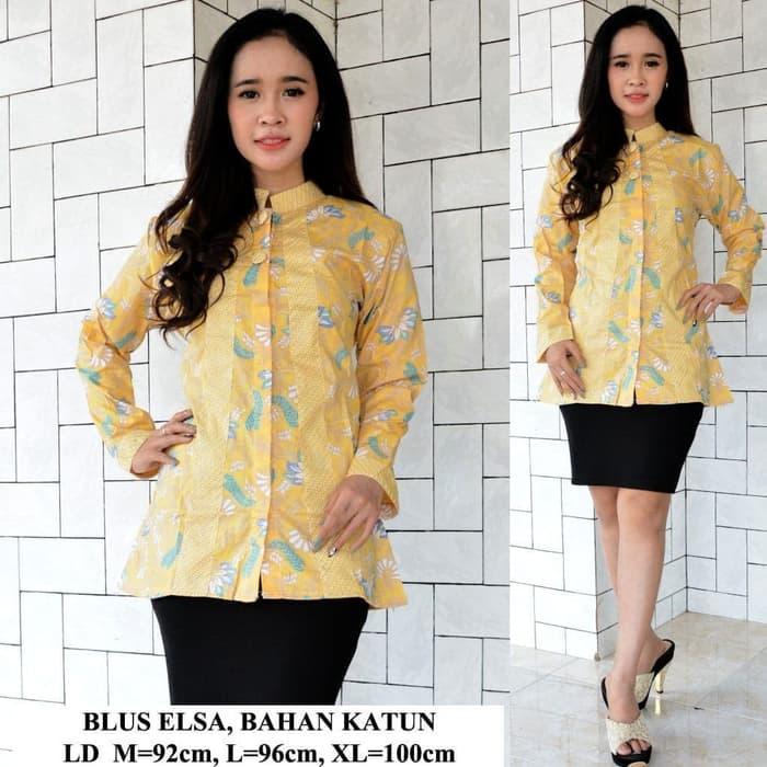 Review Baju Batik Atasan Batik Blouse Batik Wanita Baju Kerja Wanita