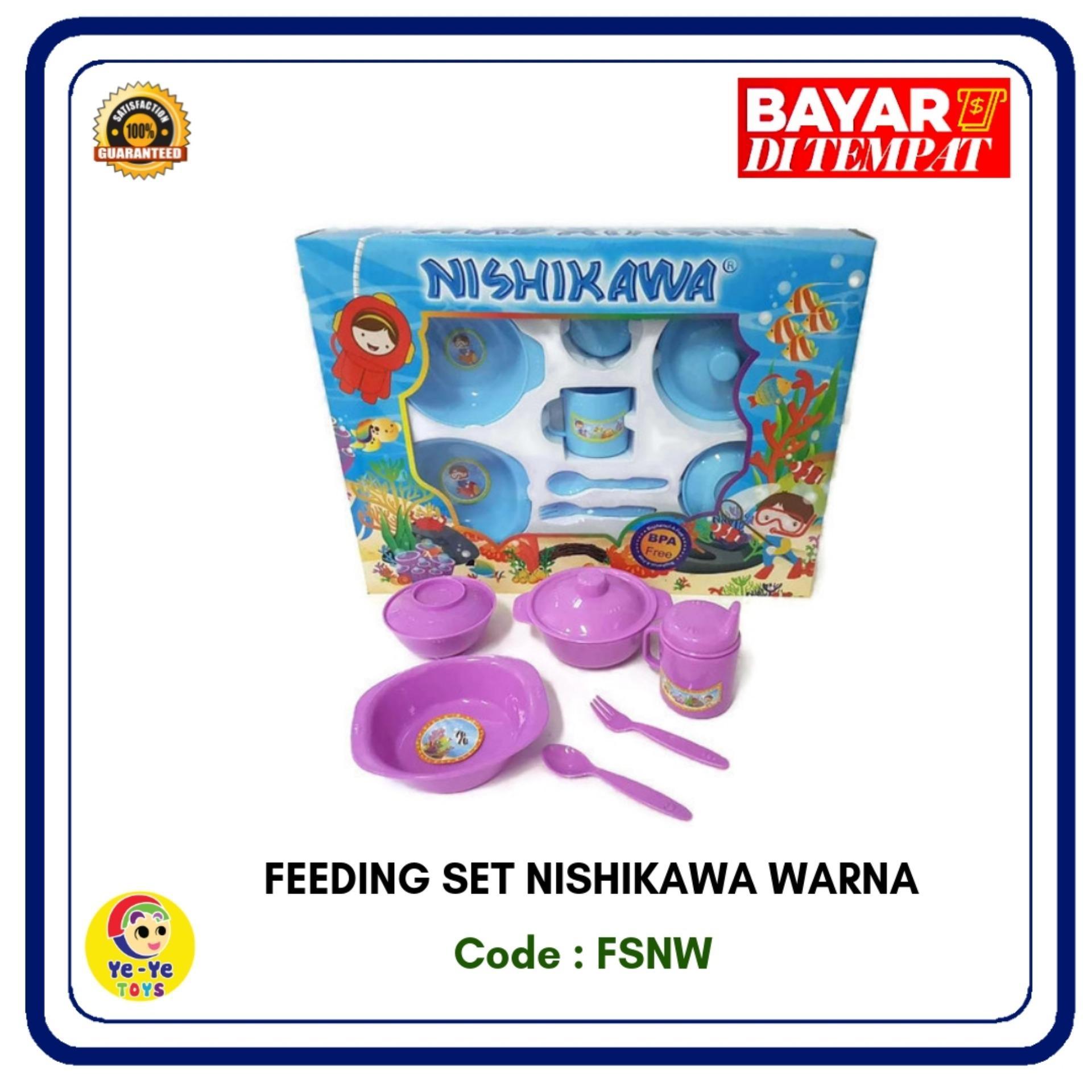 ing set / tempat makan bayi / peralatan makan bayi / ing set nishikawa warna