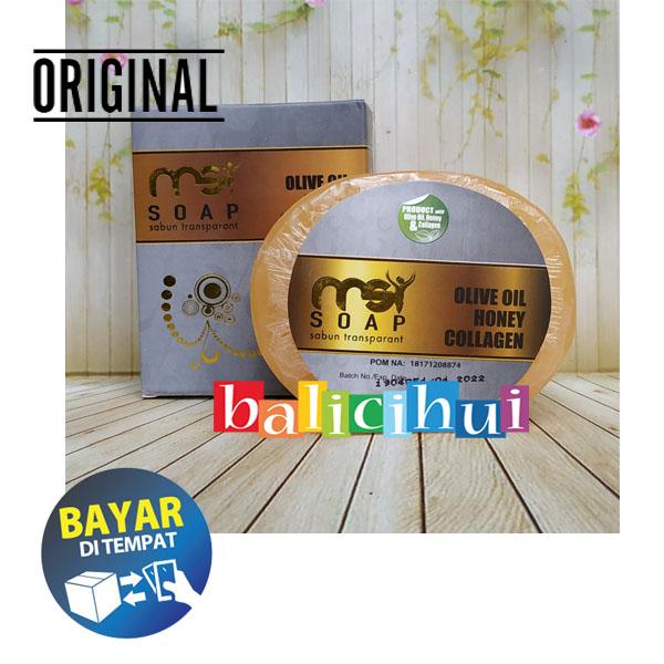 balicihui msi bio soap collagen with extract olive oil honey & collagen zaitun original 100 gram