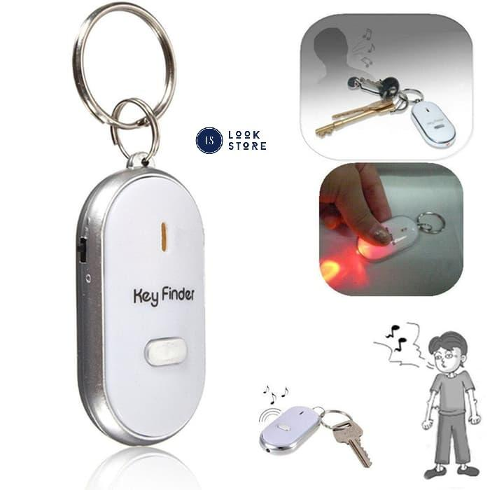 Detail Gambar Gantungan Kunci Siul Anti Hilang Lupa Key Finder Keychain Senter LED - Merah Terbaru