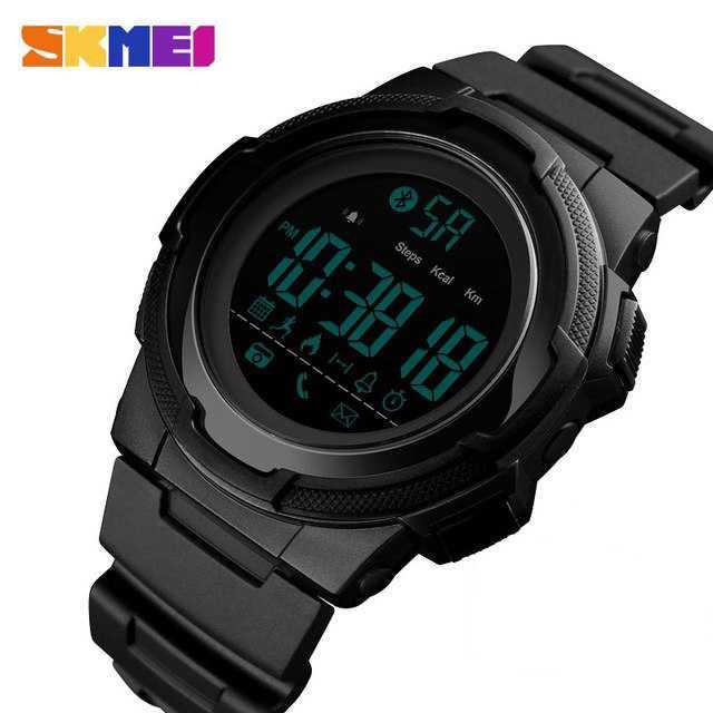 Detail Gambar Digital Innovation SKMEI Jam Tangan Olahraga Smartwatch Bluetooth - 1440 - Hitam Fashion & Perhiasan Terbaru