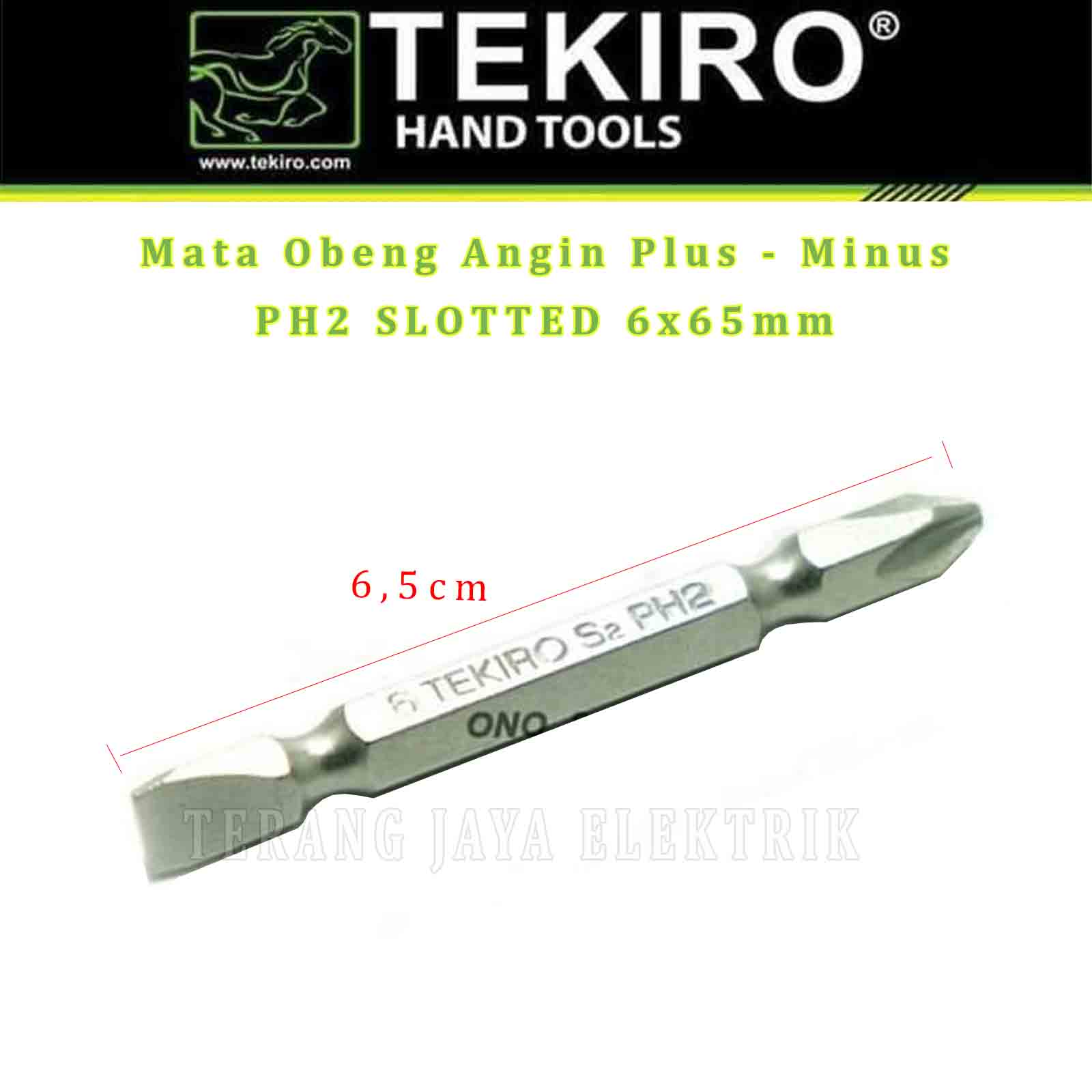 mata obeng angin plus – minus ph2 6x65mm tekiro sd-de0928 per 1 pcs