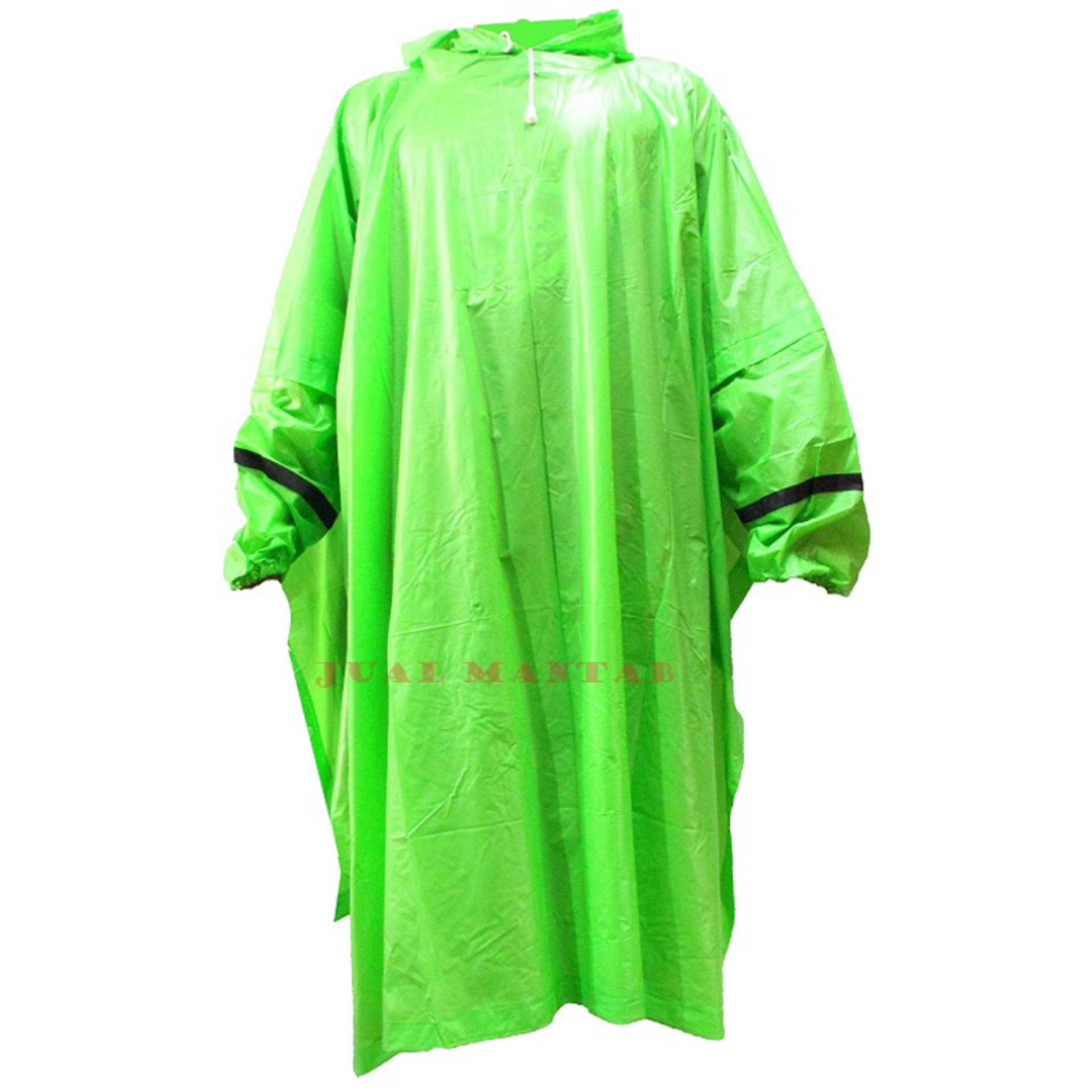 Gajah Raincoat Jas Hujan Motor Ponco Lengan Color - Jas Hujan Poncho Dewasa Pria Wanita Murah