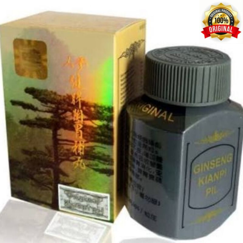 original kianpi ginseng pil gold obat herbal penggemuk herbal gold – 60 capsul gold
