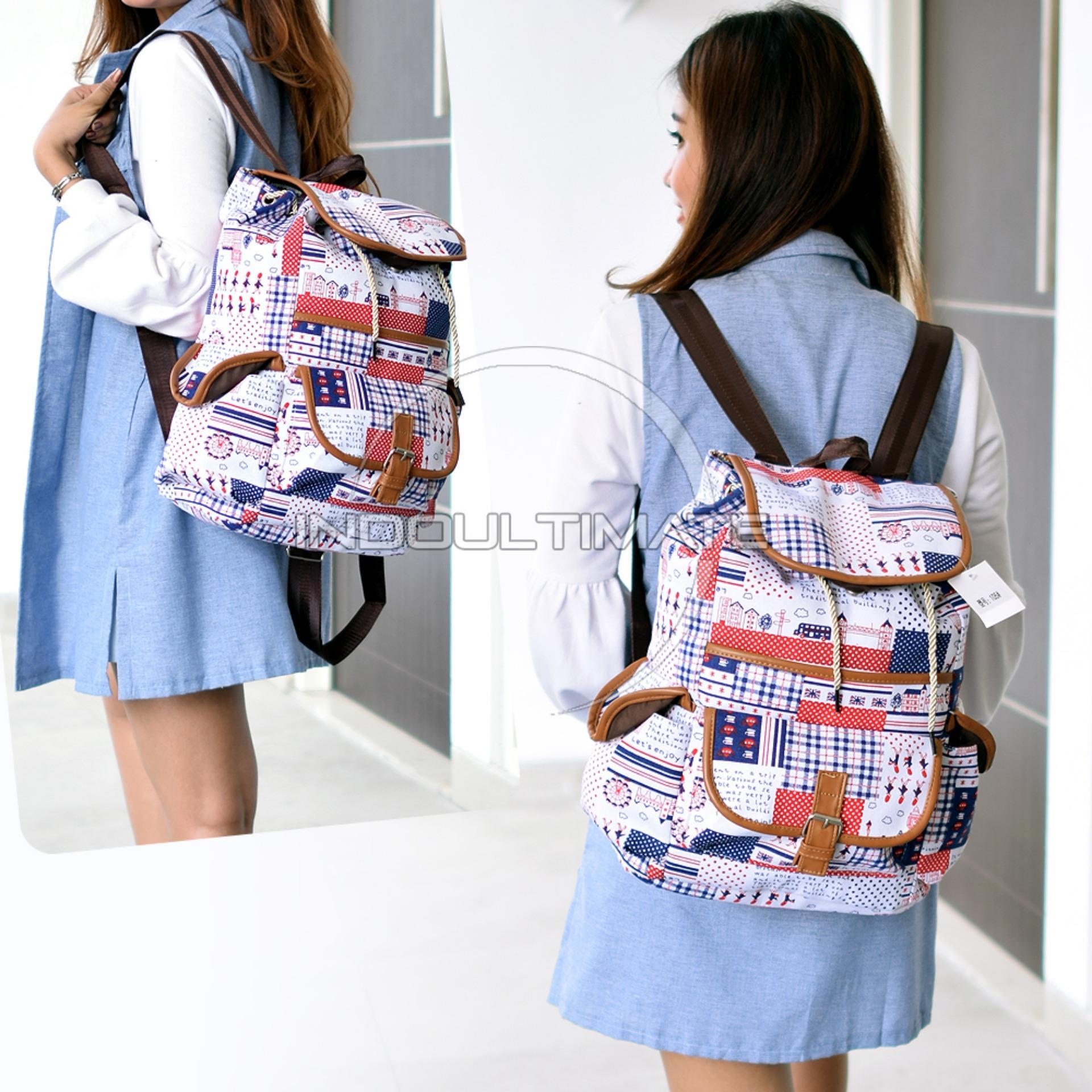Ultimate Tas Wanita JS-105   Backpack Anak Cewek Sekolah Remaja Korea  Import Batam Murah 648fe1615b