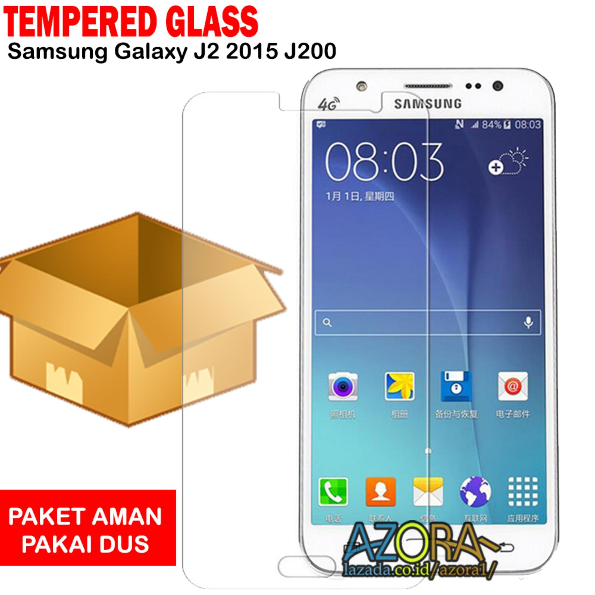 Tempered Glass Samsung Galaxy J2 2015 J200 Screen Protector Pelindung Layar Kaca Anti Gores - Bening