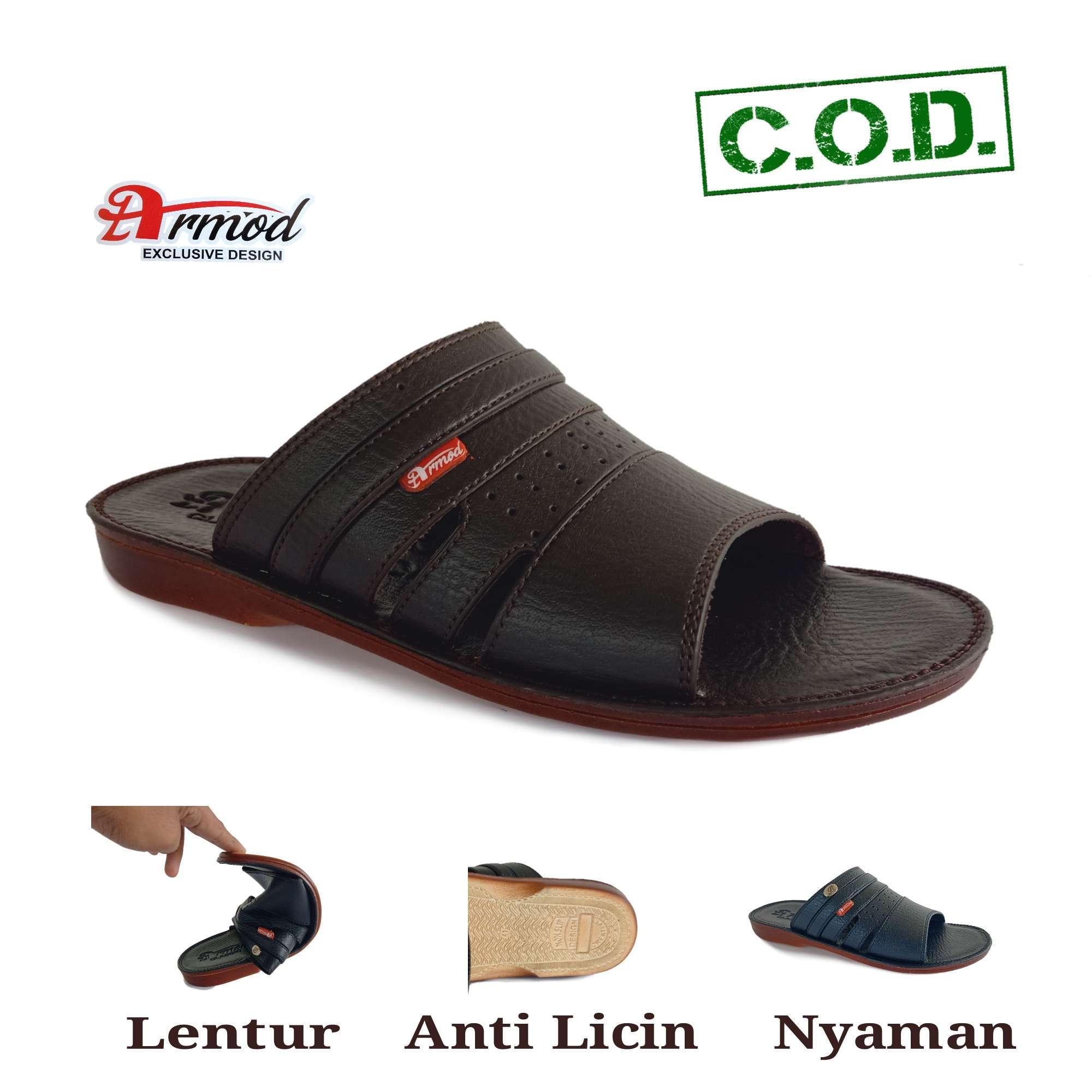 sandal kulit pria / sandal pria kulit casual / sandal pria casual kulit / sandal pria kulit / sandal pria kulit  / armod sbr 053 b