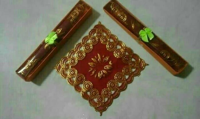 Souvenir Pernikahan Tatakan Gelas Box Mika - 2