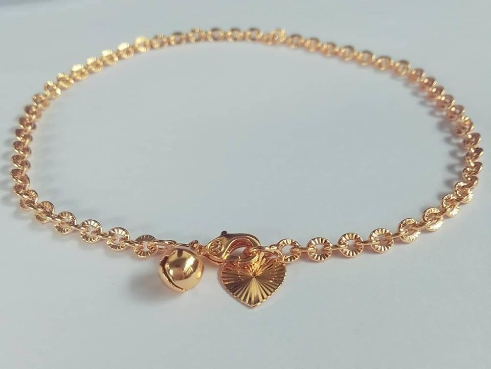 gelang kaki nuri cantik perhiasan wanita warna gold 03