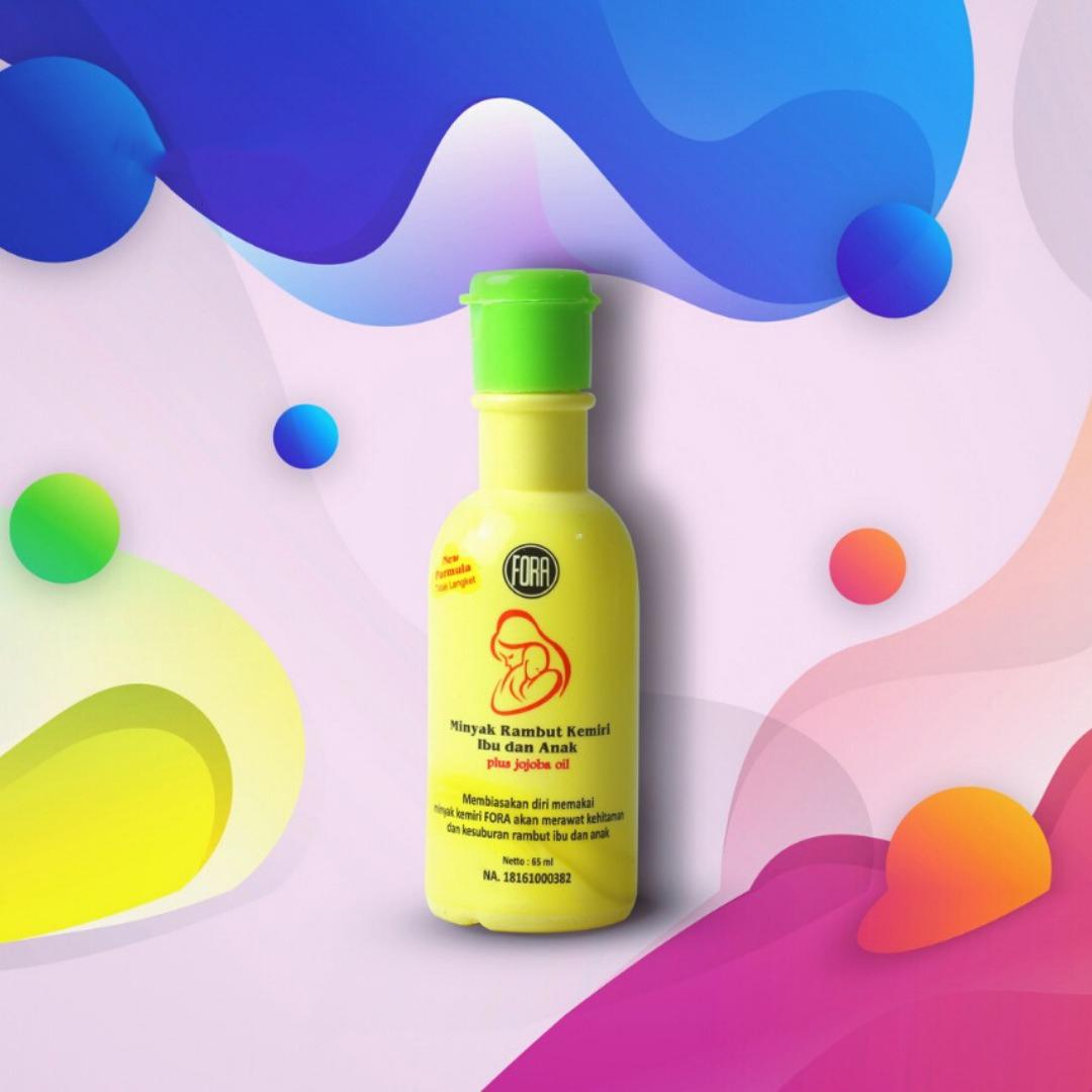 fora minyak kemiri rambut kemiri ibu anak – 65ml
