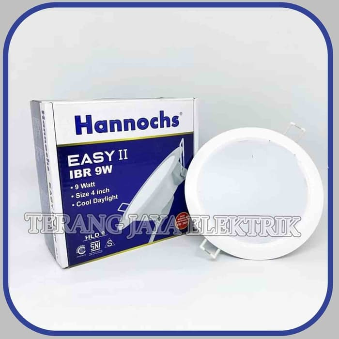 downlight led panel 7.5 watt bulat ib putih hannochs harmoni 7.5fr