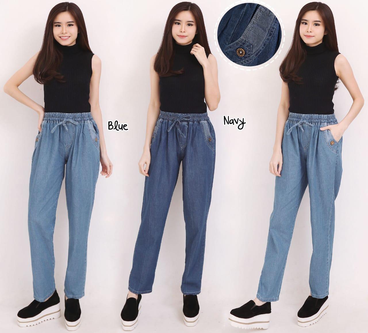 Shining Collection Celana Jogger Ficula Longpant Jeans Jumbo Wanita