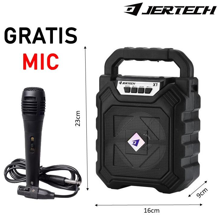 speaker bluetooth tenteng speaker 6.5 inci jda-1903 free mic karaoke