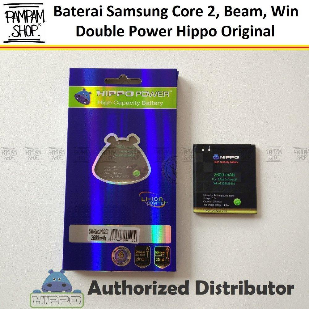 Baterai Hippo Double Power Original Samsung Galaxy Core 2 G355H G355 Batre Batrai Battery Dual Handphone
