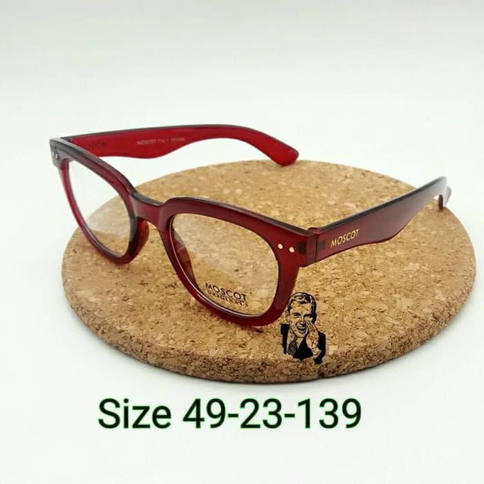 kacamata Moscot 6071 Maroon Frame Kacamata Baca pria