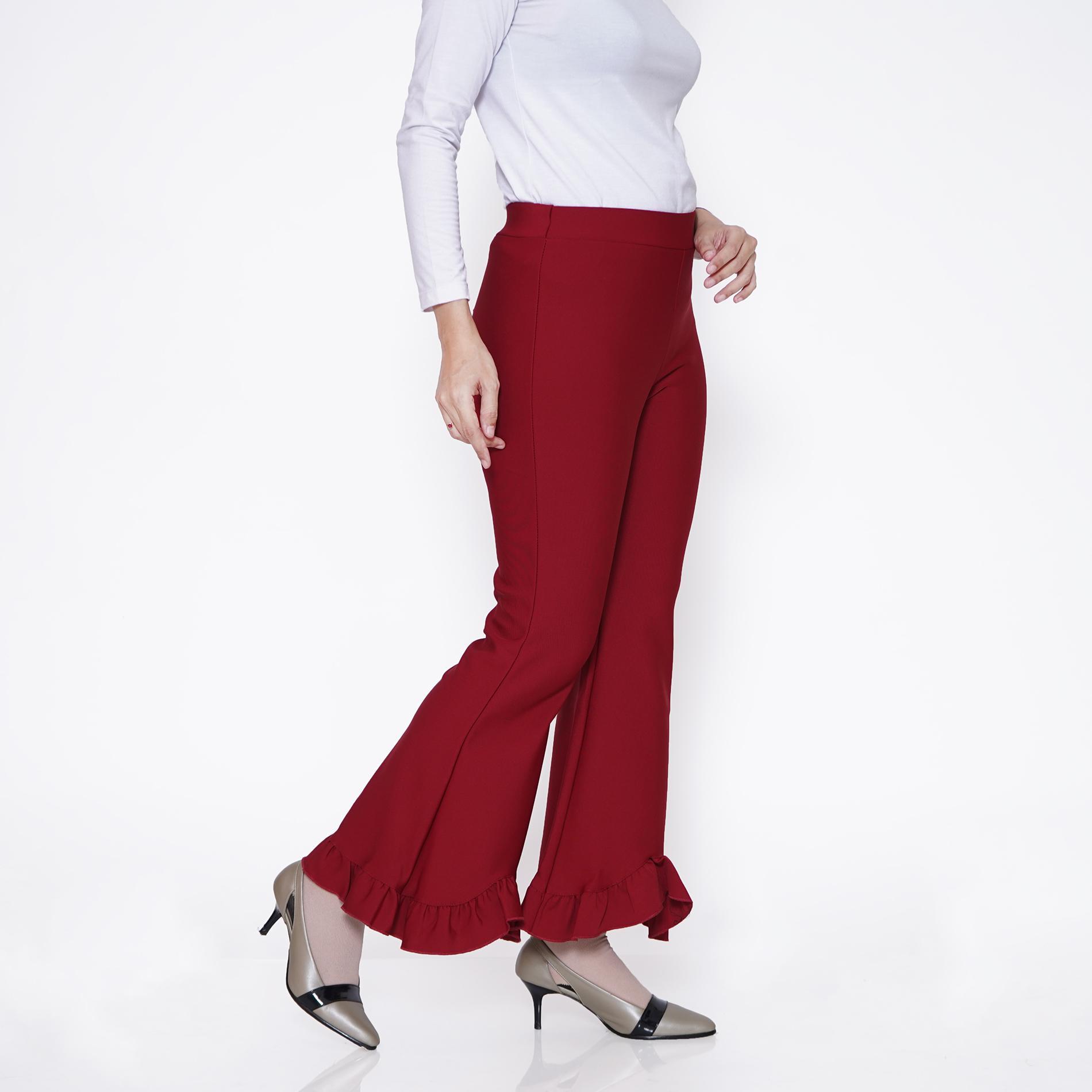 haymeestore celana haigwaist cutbray office pants import bawahan cutbrai wanita celana premium scuba cewek