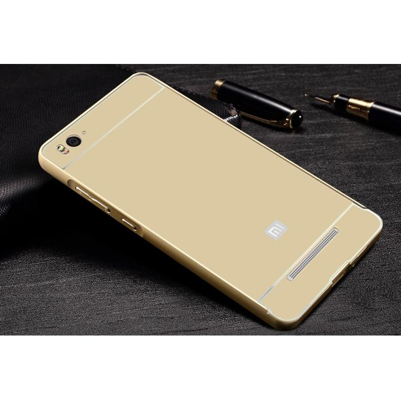 Aluminium Bumper Case with Arcylic Back for Xiaomi Mi4i / Mi4c - Golden - 2 ...