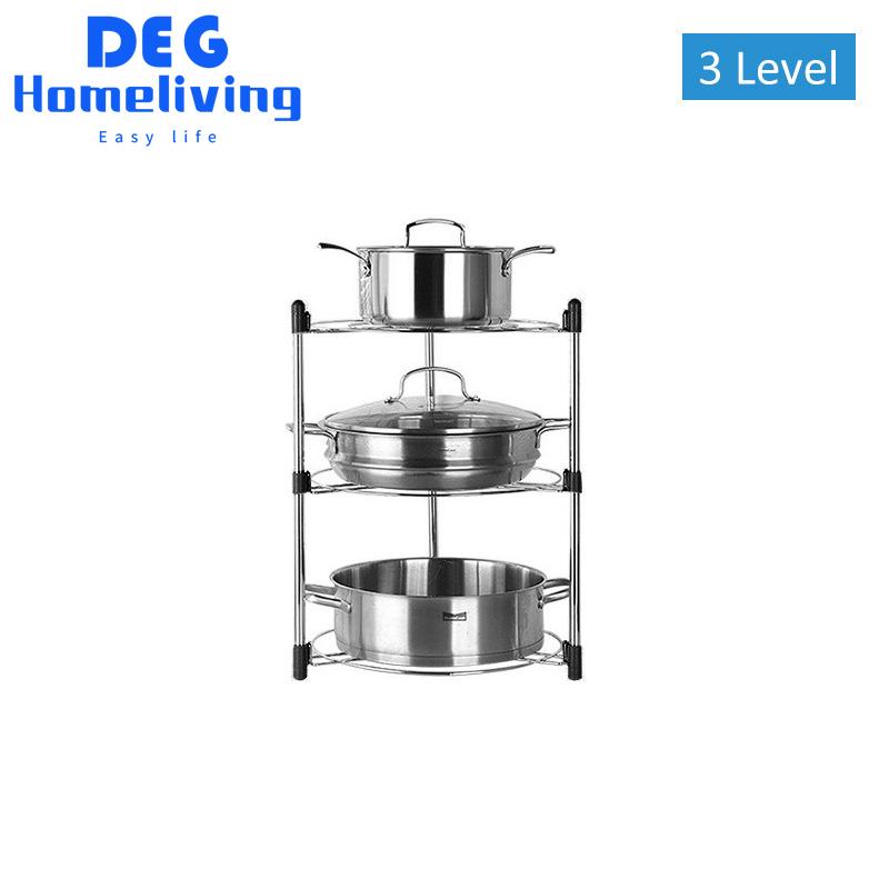 deg homeliving rak panci wajan peralatan masak kitchen rack bertingkat multifungsi