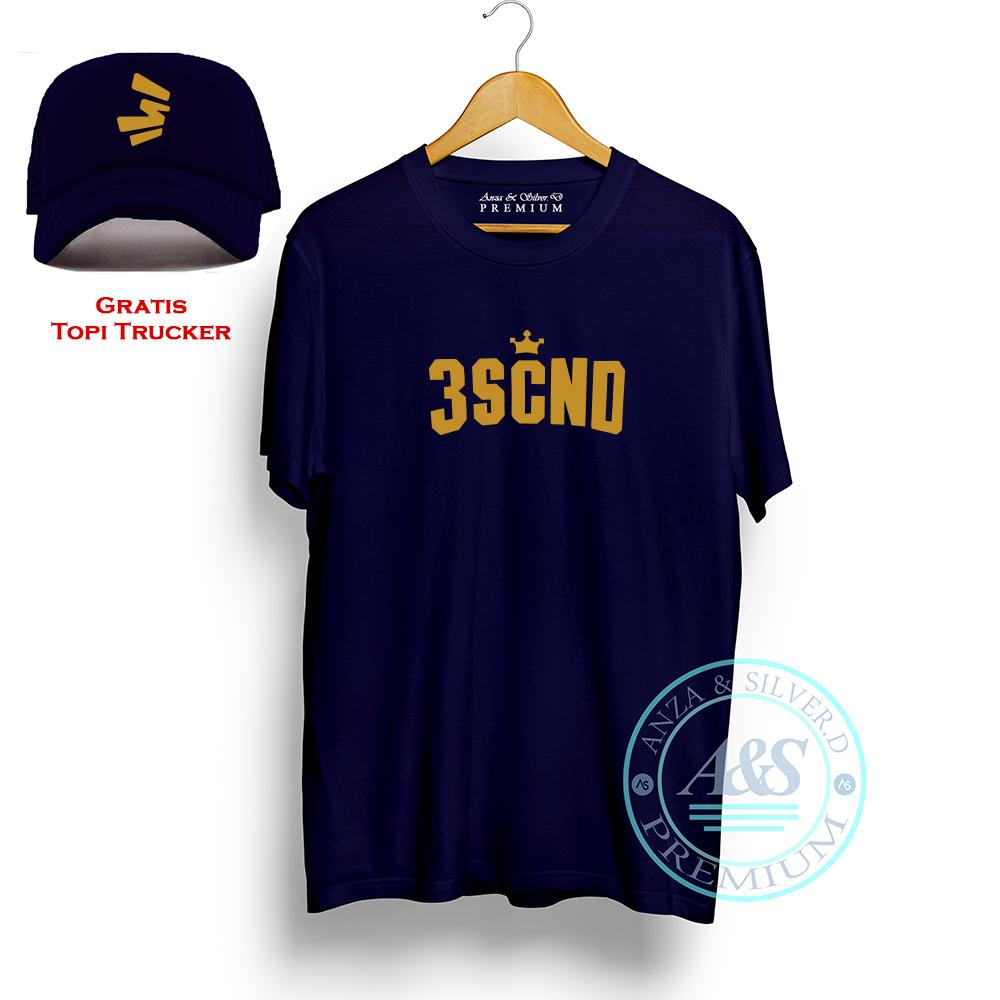 baju kaos pria 3second gratis topi | t-shirt distro bahan cotton combed 30s kualitas premium | atasan distro pria unik gratis topi