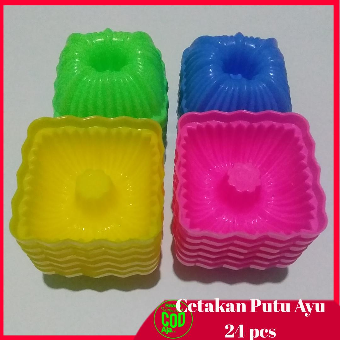 24 pcs cetakan kue puding putu ayu jelly agar bolu kukus kotak
