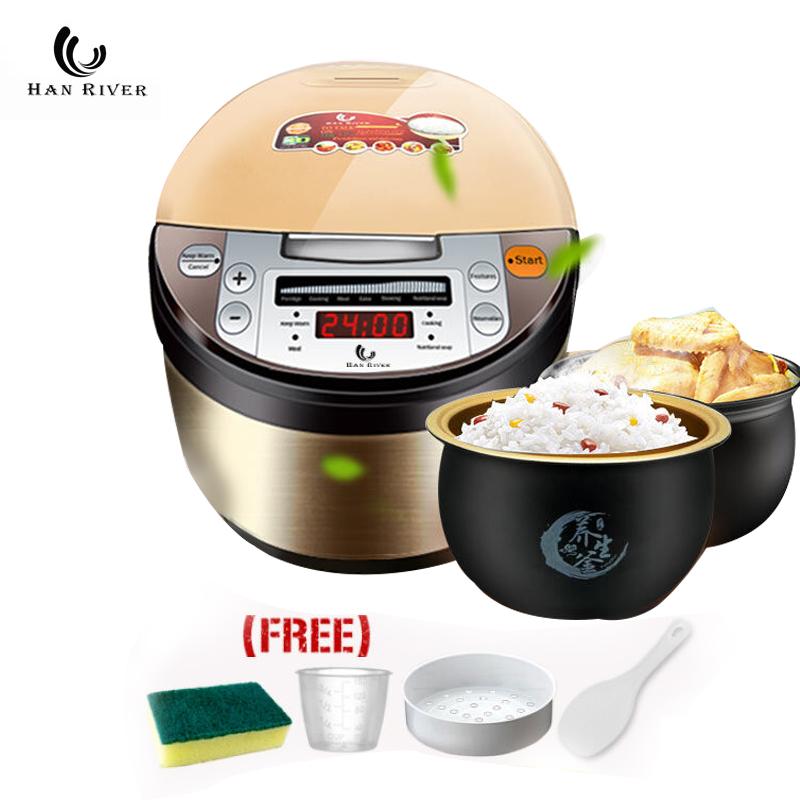 han river rice cooker 2l hrrc-0001 magic com smart cooker touch screen penanak nasi