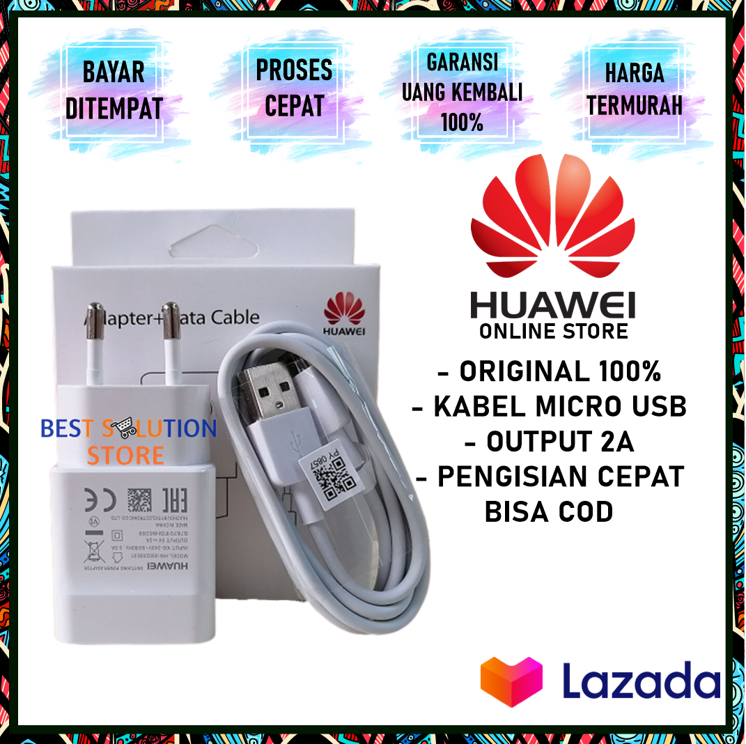 huawei charger micro usb 5v-2a for huawei y5 / y6 / pro universal all type – original huawei