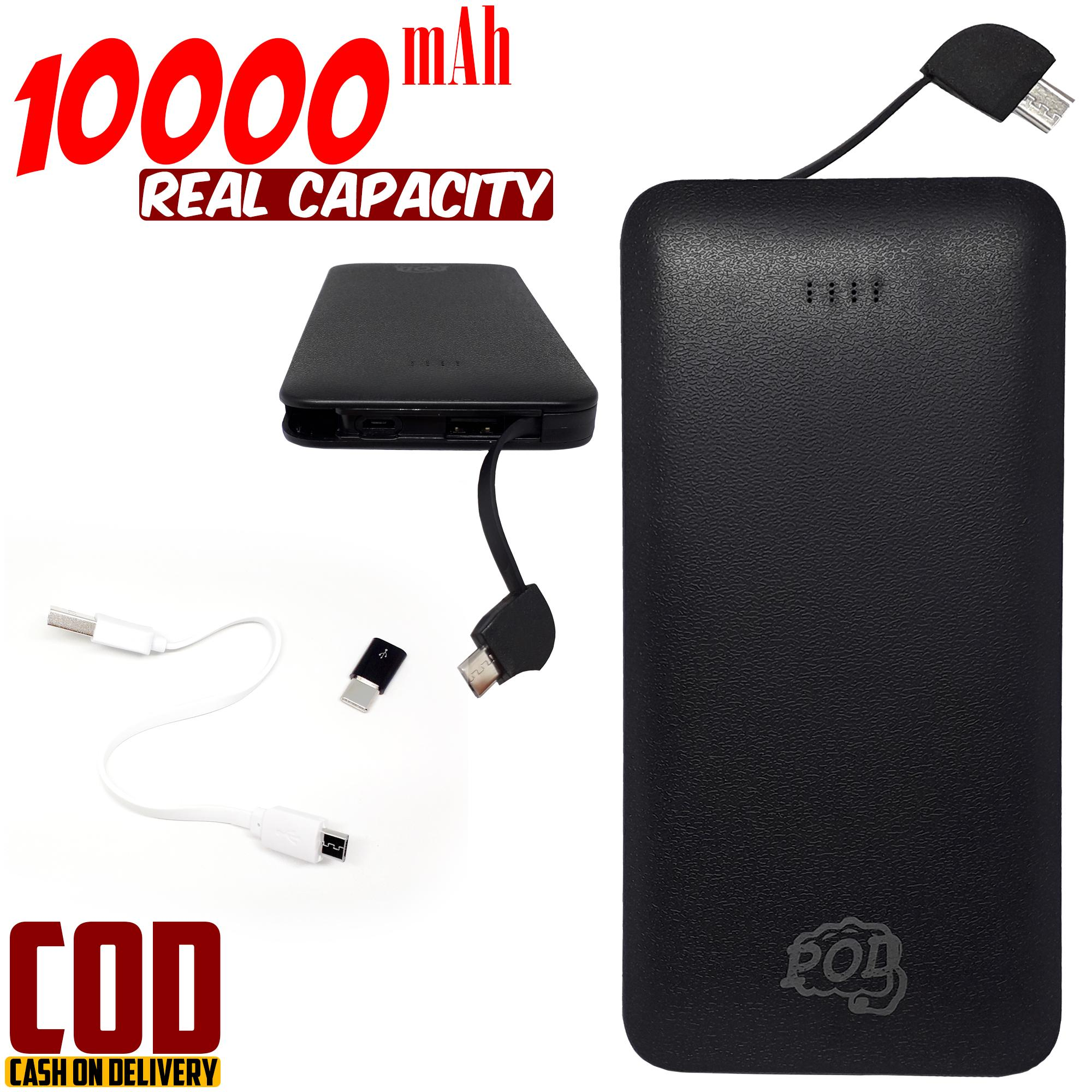 powerbank 10000mah real capacity connector type – c fast charging pod series premium quality