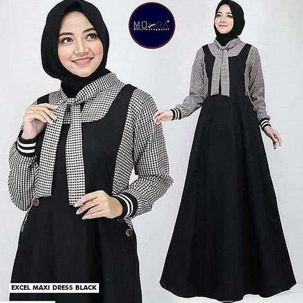 Features Excel Baju Gamis Long Dress Wanita Muslim Syari Remaja
