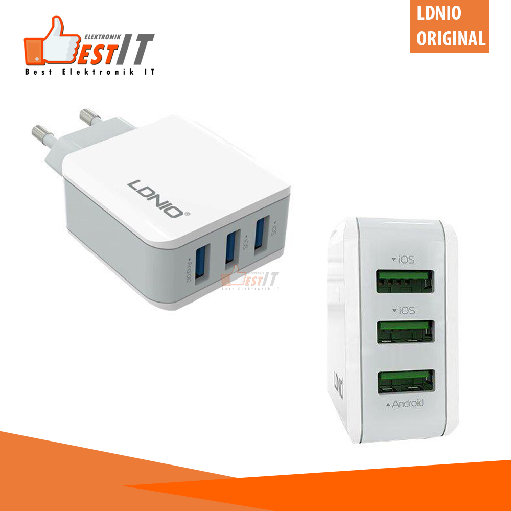charger fast charging carger hp pengisian cepat carger hp samsung / charger hp oppo / charger iphone ldnio a3301