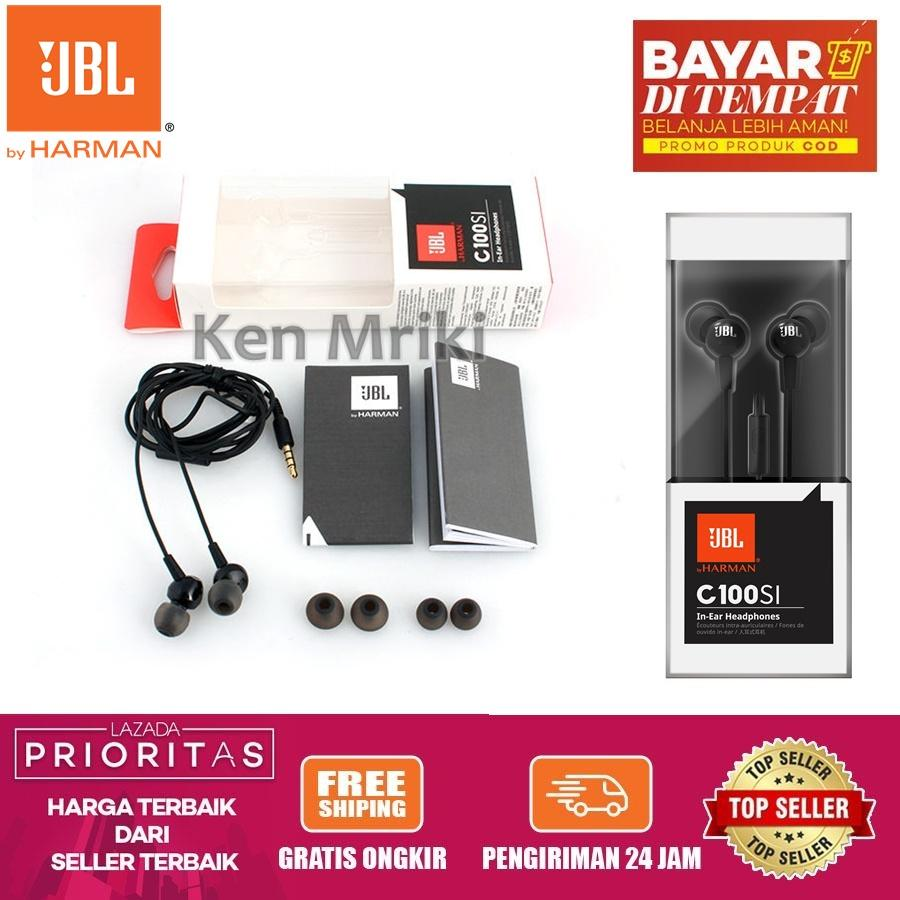 headset / earphone / handsfree jbl c100si wired in-ear headphone original handsfree with mic original by harman