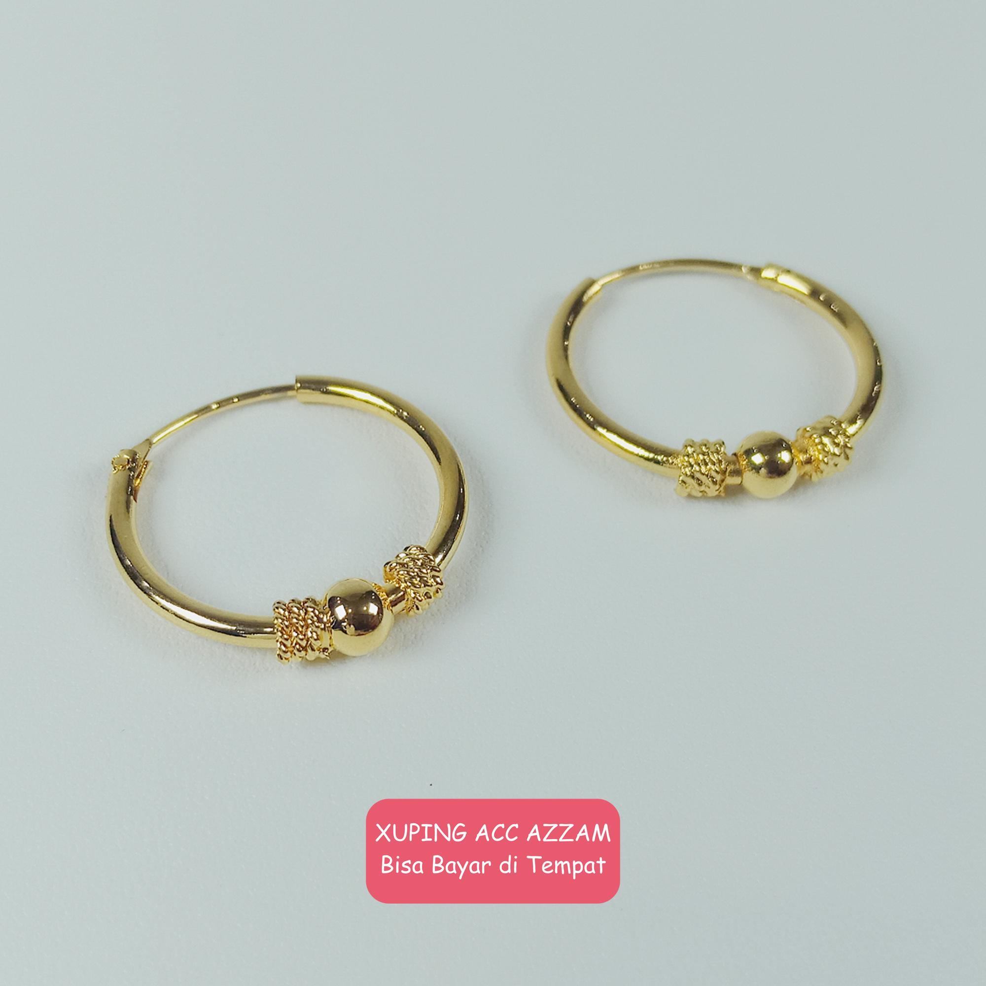azzam anting xuping anting cantik anting love anting emas anting gold kait stud fashion wanita 33 perhiasan pengganti emas