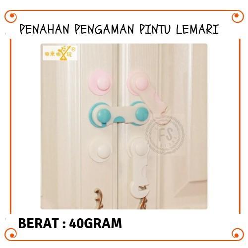 Funstore Official - PENAHAN PENGAMAN PINTU LEMARI / BABY SAFETY LOCK BAND / PENGUNCI PINTU
