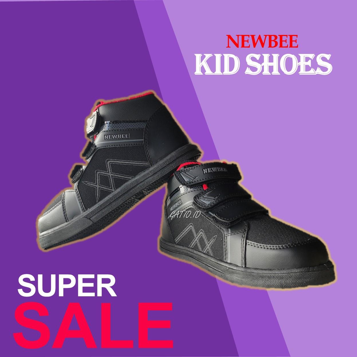 gatio / sepatu anak sekolah laki laki cowok / sepatu sekolah anak playgrup tk sd / sepatu sneakers tahun / sepatu anak ukuran 28 29 30 31 32 33 34 35 / vico newbee