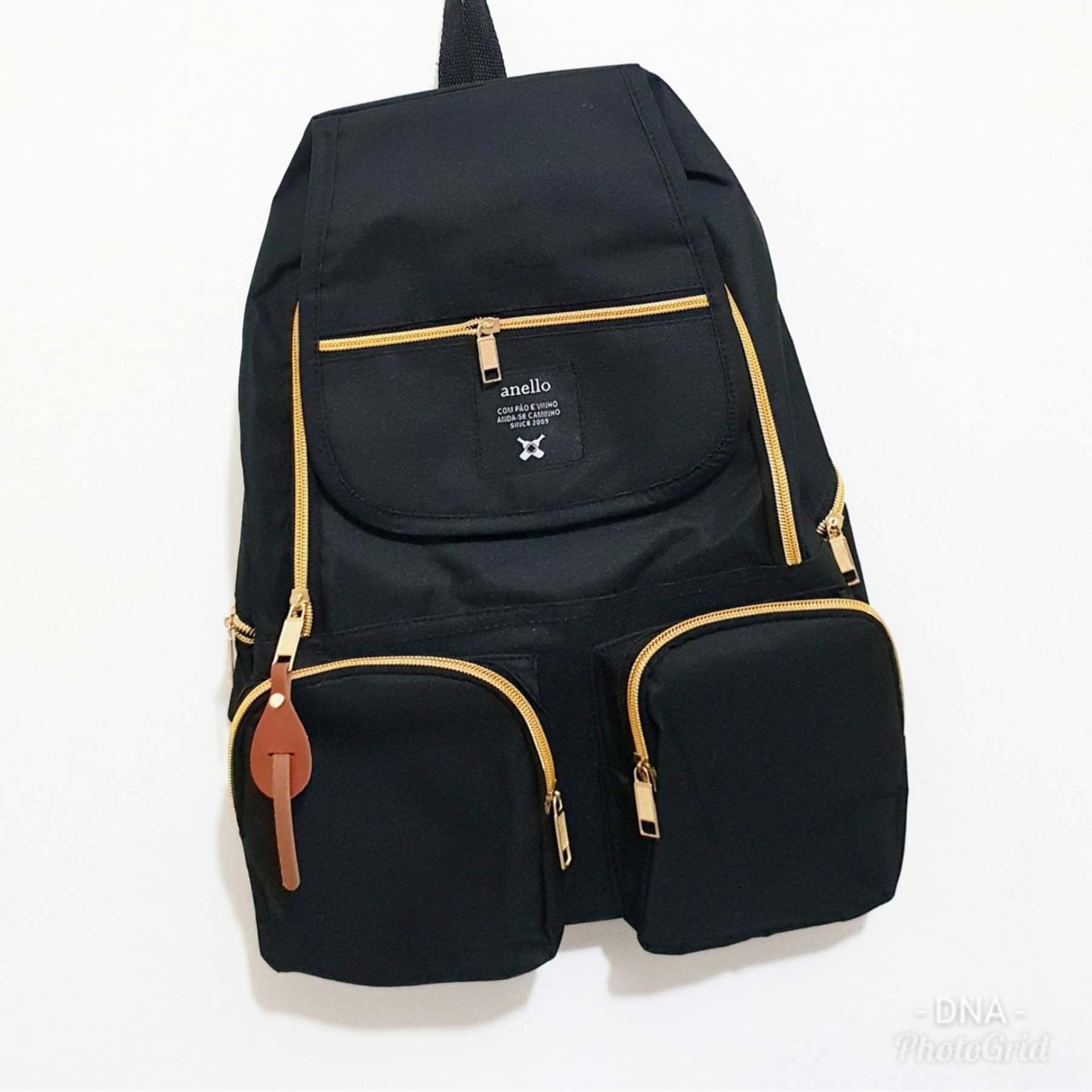 Amaryllis Backpack Korean Style Anello Pocket / Tas Ransel Wanita / Tas Ransel Pria / Tas