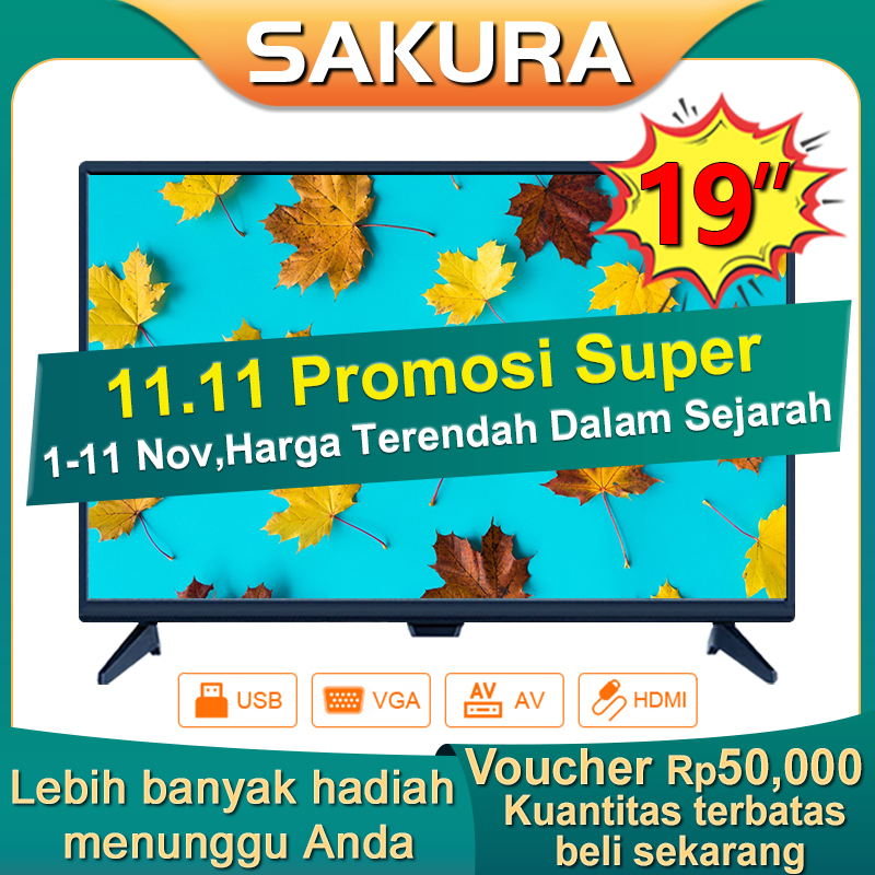 Sakura TV LED 19 inch HD Ready Televisi Murah (TCLG-SA19new)