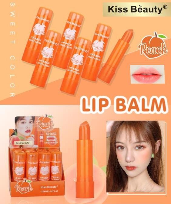 bc_cod_kiss beauty peach lipbalm sweet color 1 pcs