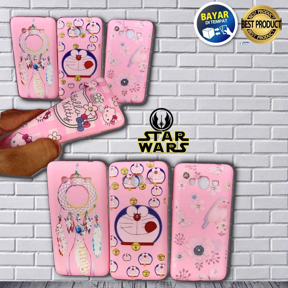 Case / Softcase Pink Manik CANTIK Motif Senada For Samsung Galaxy J2 Prime / Grand Prime