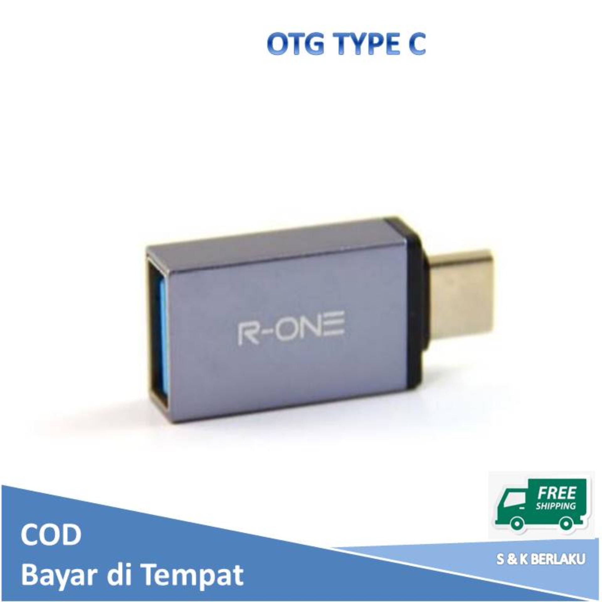 fatqia – otg type c to usb 3.0 converter / connector flashdisk type-c r-one – abu-abu