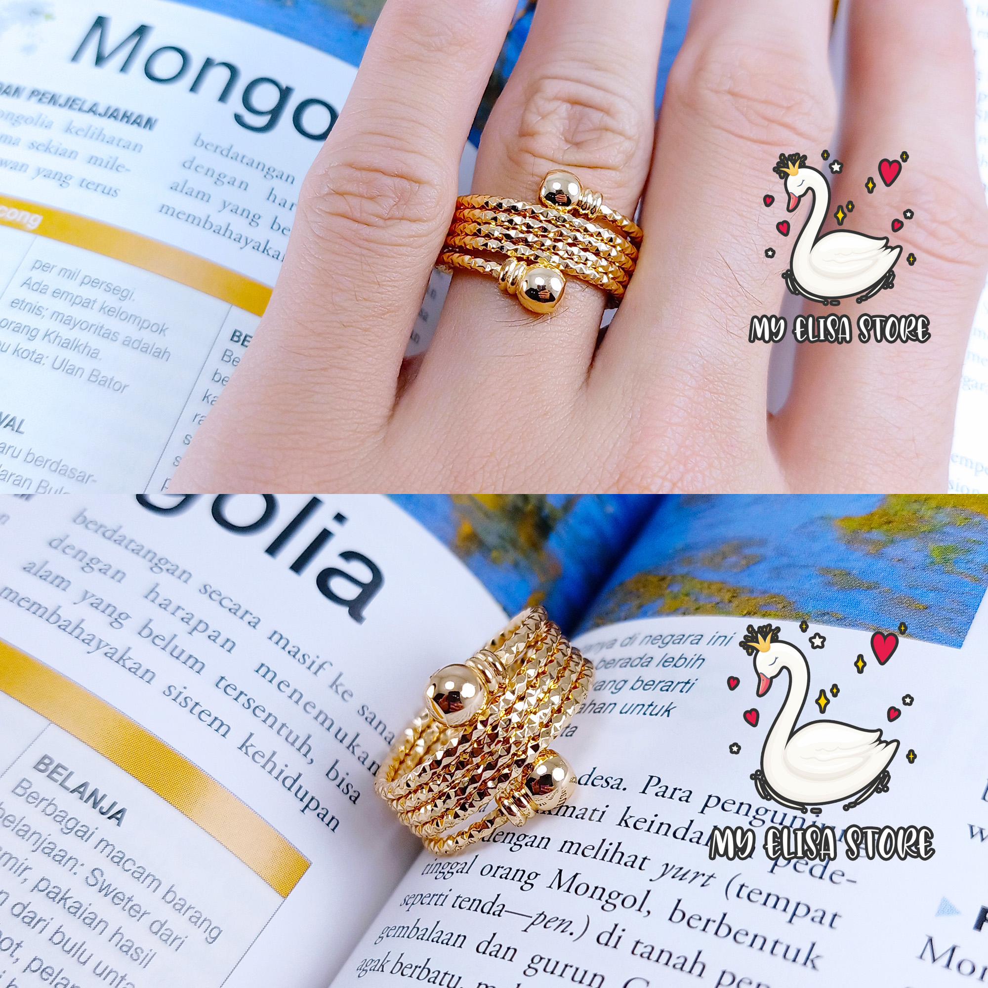my elisa cincin xuping gold lapis emas women ring melingkar 40