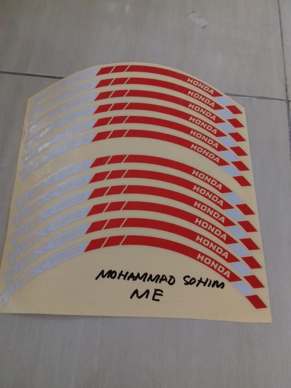 Detail Gambar ME Cutting Sticker - for VELG HONDA PCX - LAZADA Prioritas - Merah Putih Terbaru
