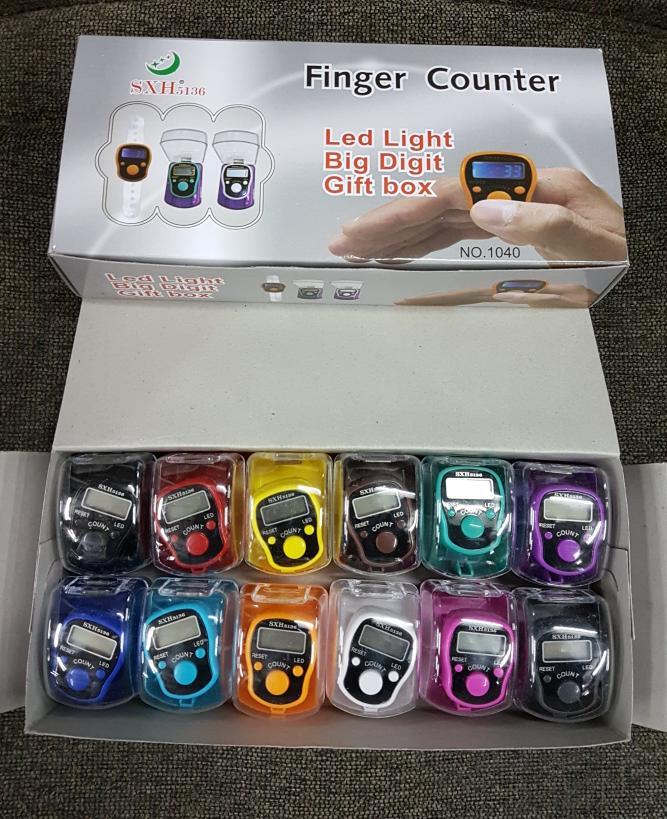 Detail Gambar Tasbih Digital Lampu LED Jari / Finger Tally Counter SXH 5136 Terbaru