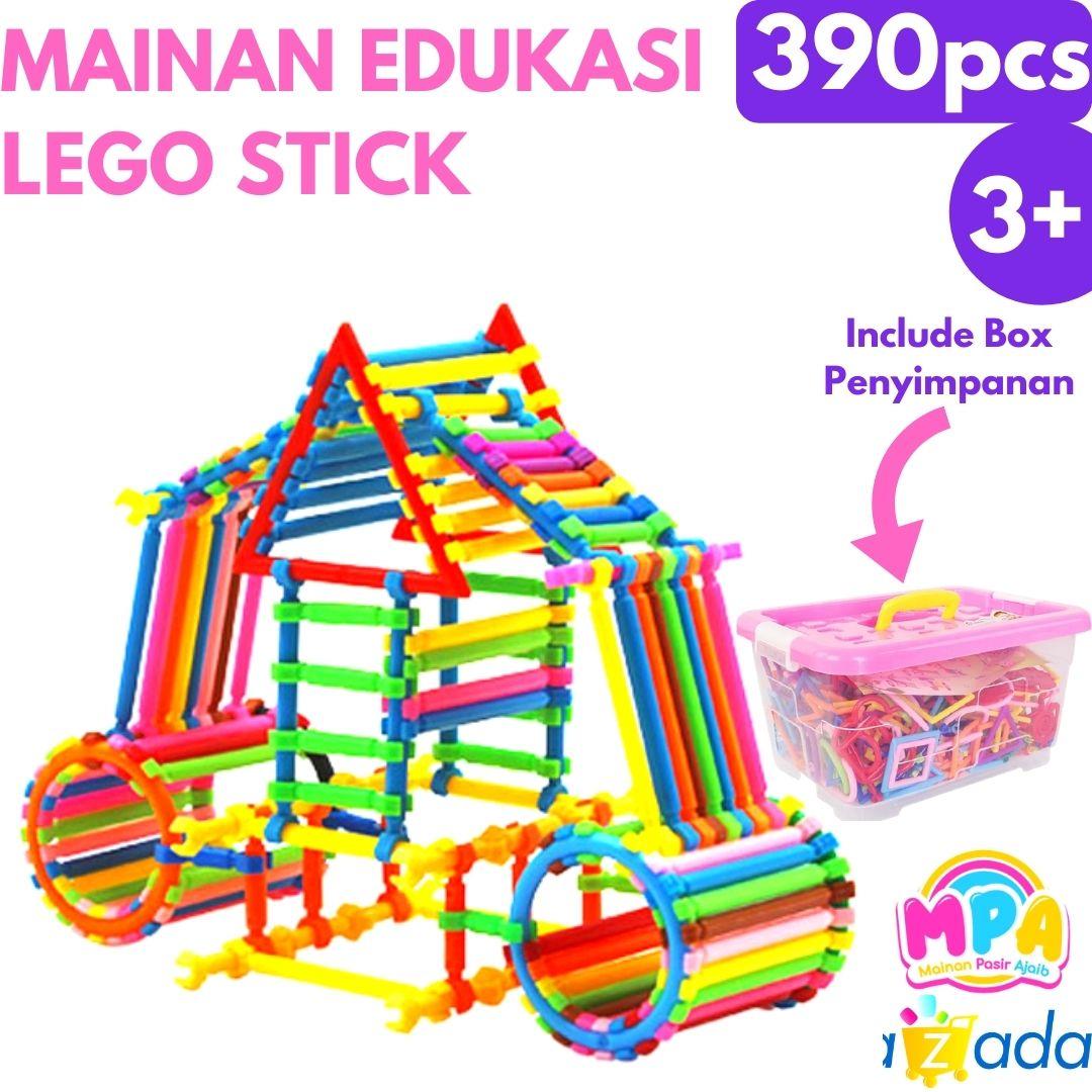 mainan anak / mainan edukasi anaklego stick blocks isi 390pcs stik diy balok susun