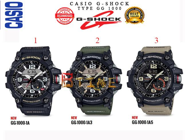 Jam G-Shock GG 1000 - gg1000 Autolight- Casio G Shock Double Time Pria